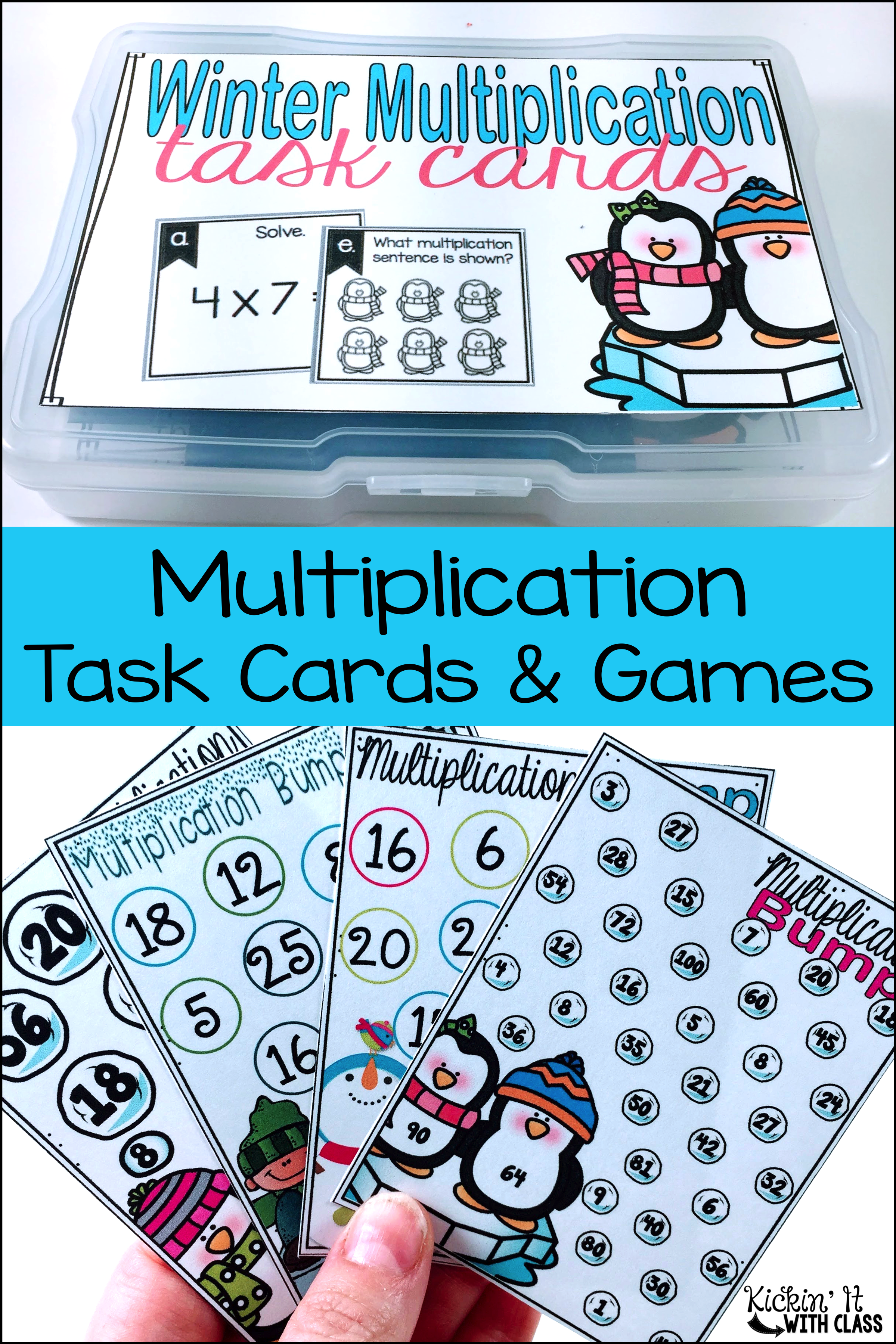 Multiplication Games For Fact Fluency Winter Themed Bump