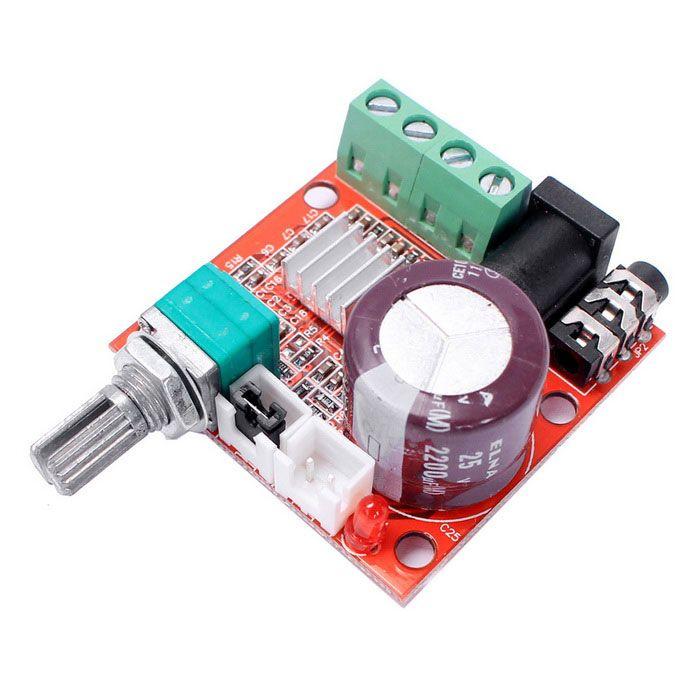 Mini Digital Audio Amplifier 10W+10W / 2 Channel AMP/ DIY Module Class D HIFI 2.0 (DC12V). Find the cool gadget