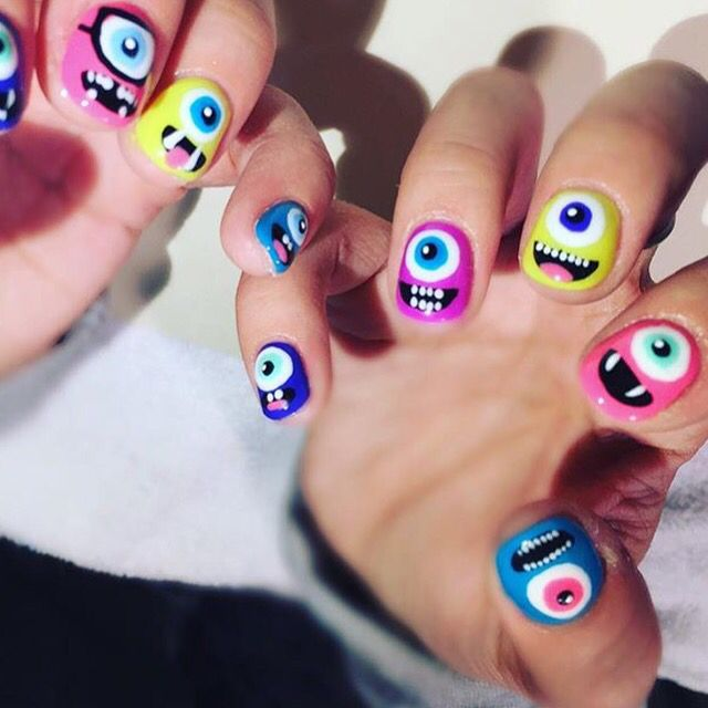 Fetching Monsters #nails by Emi #deifybeauty