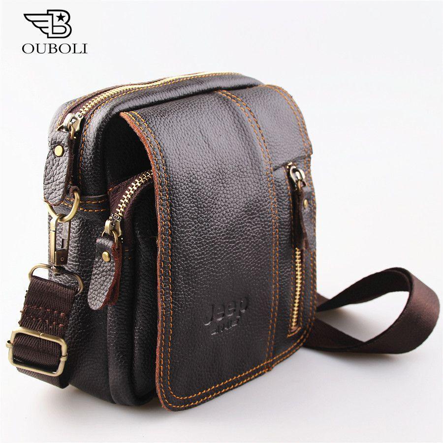 7105d705bfe1 Leather men bag fashion designer crossbody bag  fashion