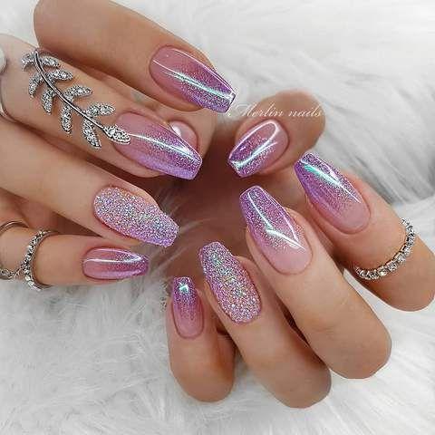 30 Cute Summer Nails Designs Fashion Glamour Trends 2019 Katty Glamour Gel Nail Art Designs Nail Designs Glitter Pink Nails