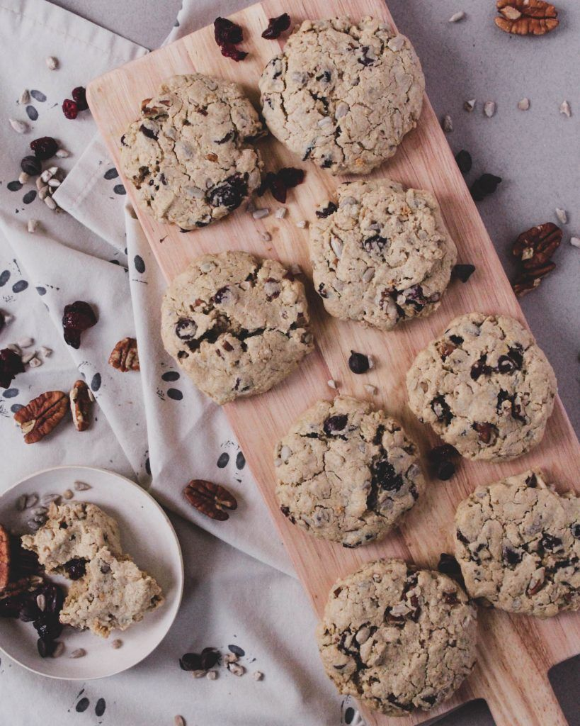 Tahini Trail Mix Cookies