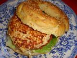 Receta Hamburguesa de salmón para Etyam - Petitchef