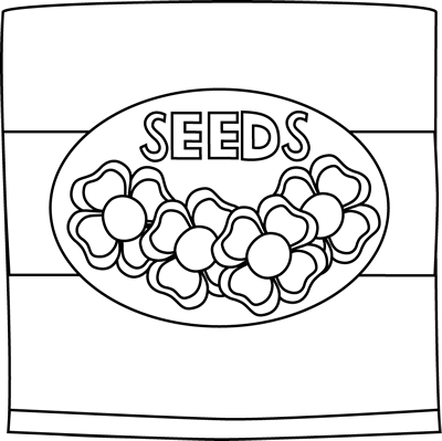 clip art black and white black and white flower seed packet clip rh pinterest com carrot seed packet clipart vegetable seed packets clipart