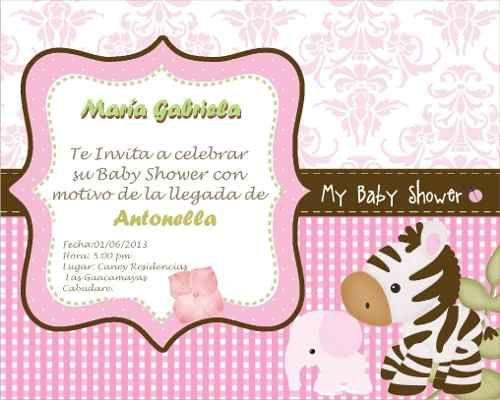 Tarjetas de mariposa para imprimir para baby shower de niña ...
