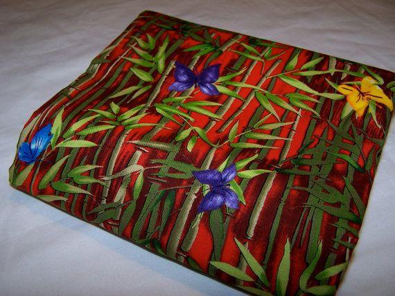 Bamboo Butterflies  Cotton Fabric MMFab 2.5 by EggMoneyQuilts