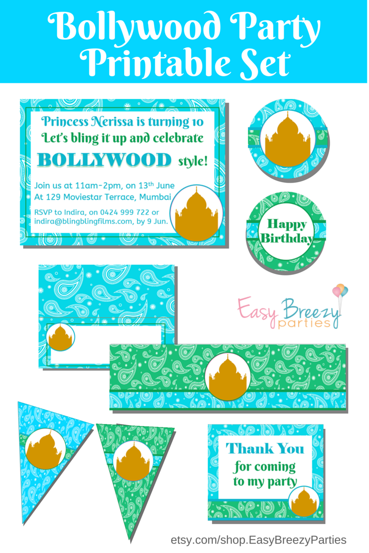 Amazing Bollywood Party Invitation Images - Invitations Example ...