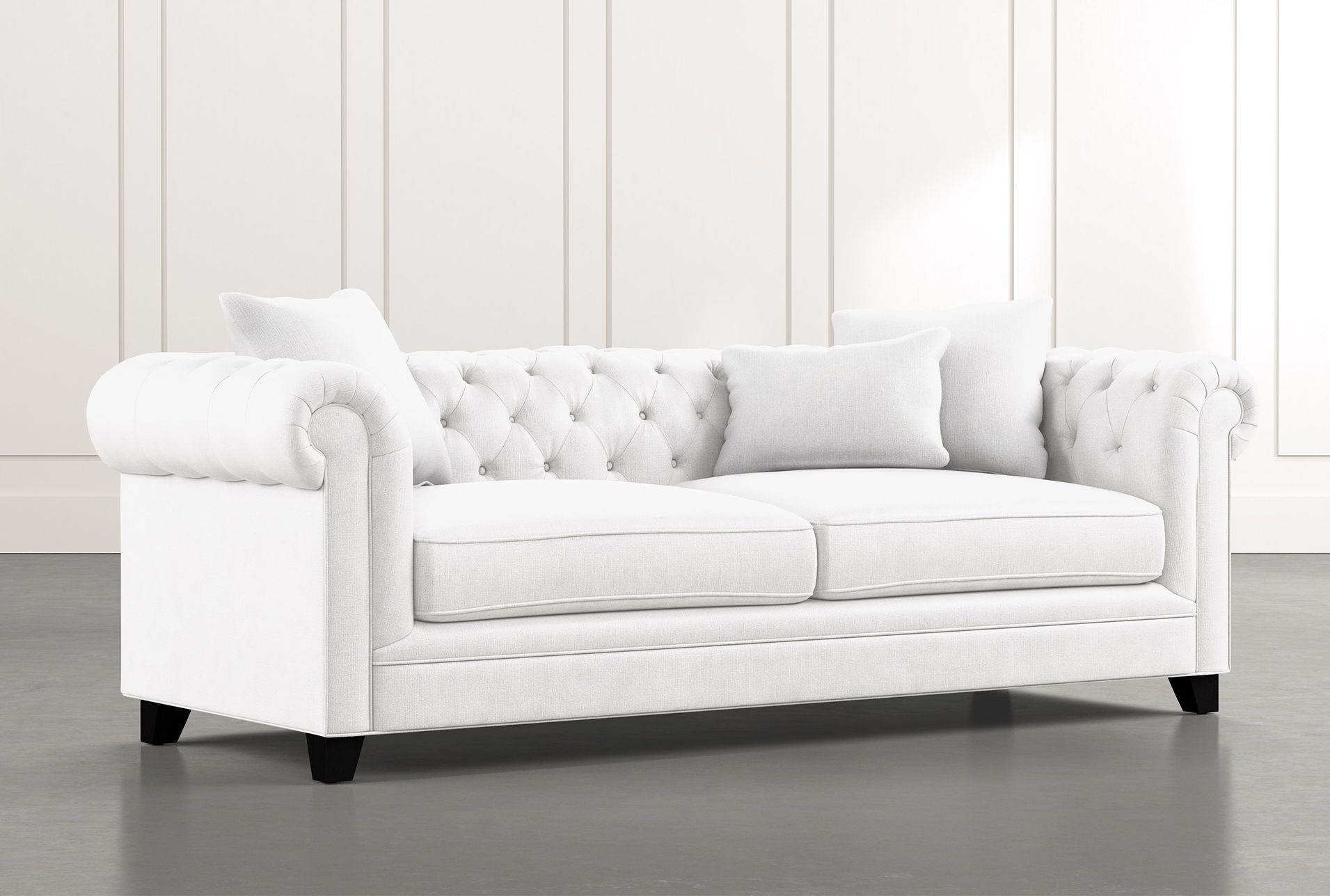 Patterson Iii White Sofa In 2020 White Sofas White Sofa Living Room White Sofa Living