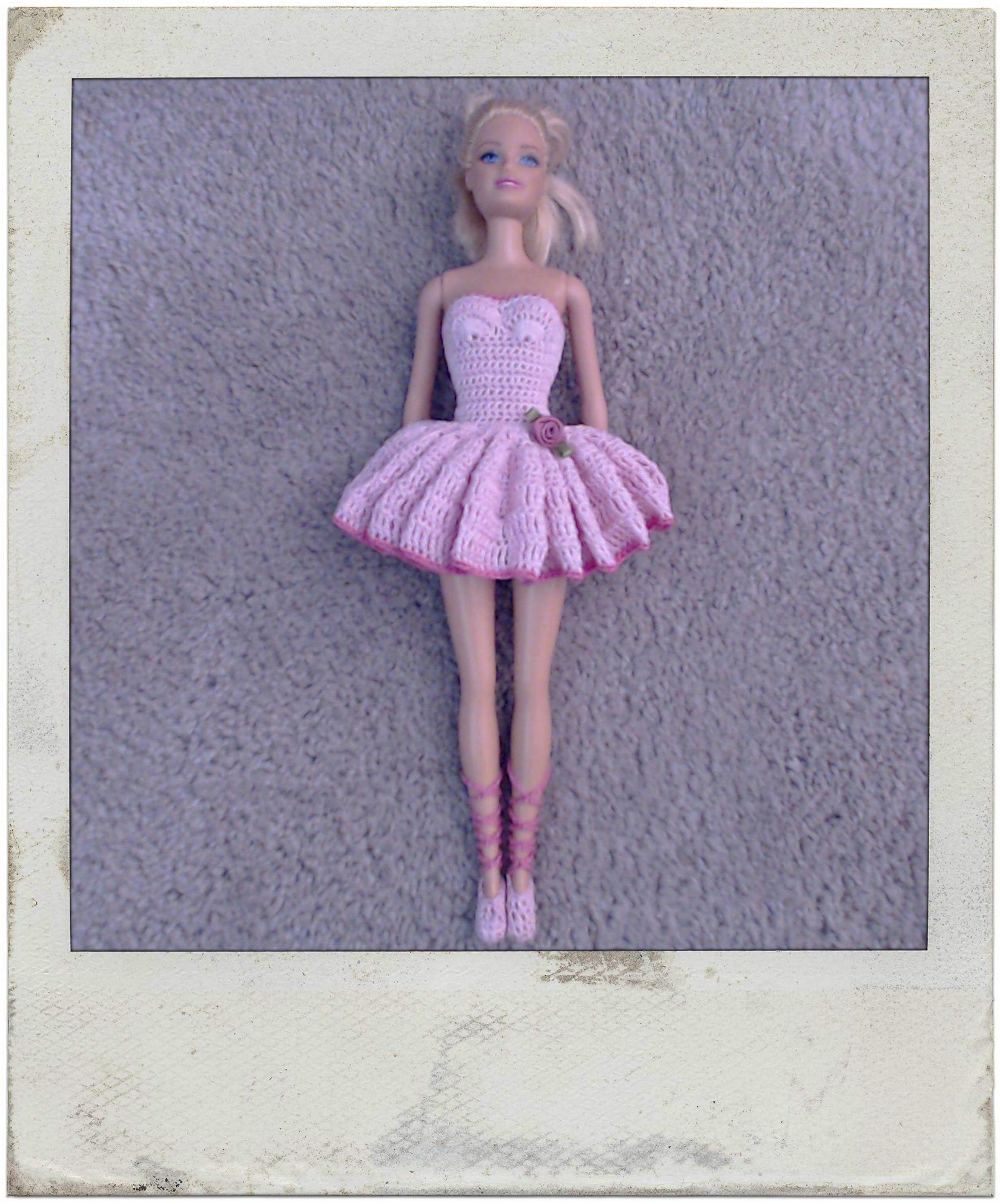 pin the tutu on the ballerina template - crochet barbie 39 s ballerina tutu slippers barbi video