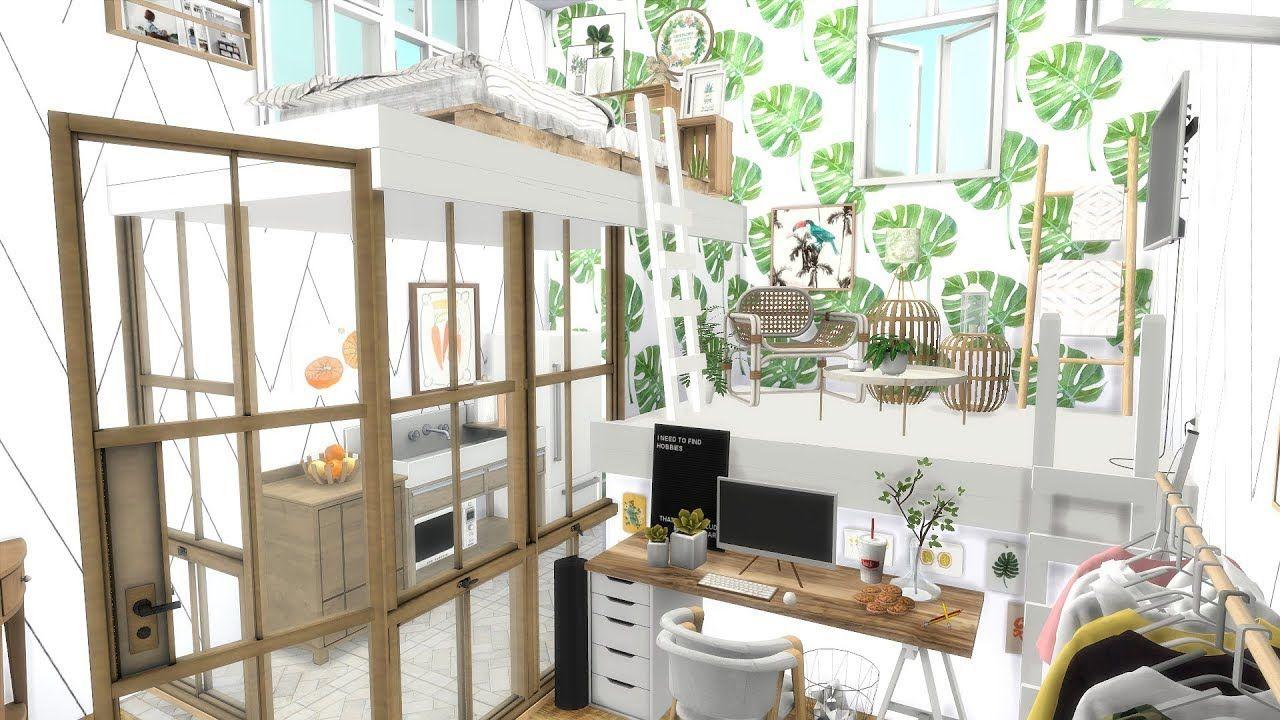 THREE STORY LOFT The Sims 4 CC Speed Build + CC Links
