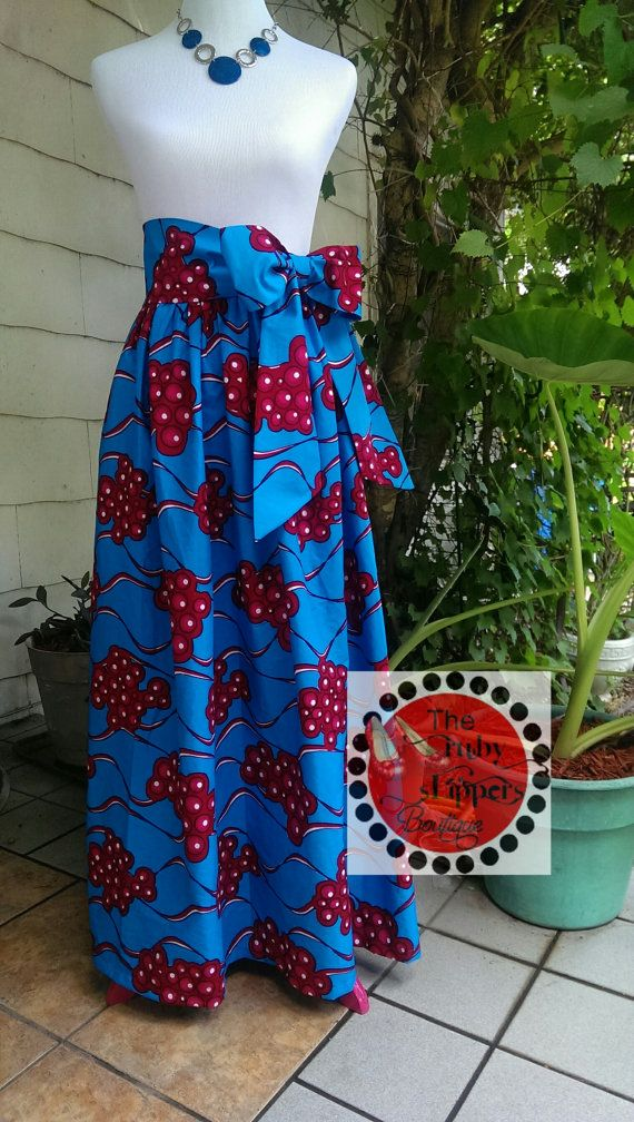 African Print Maxi Skirt by RubySlippersOnline on Etsy