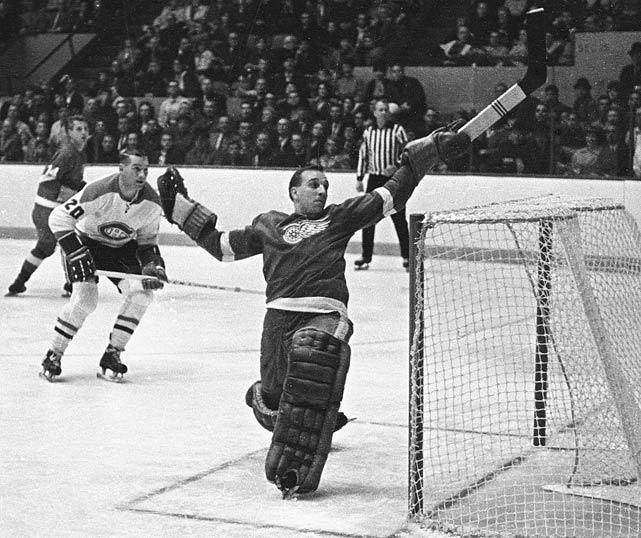 Goalie Roger Crozier in the 1966 Stanley Cup finals.