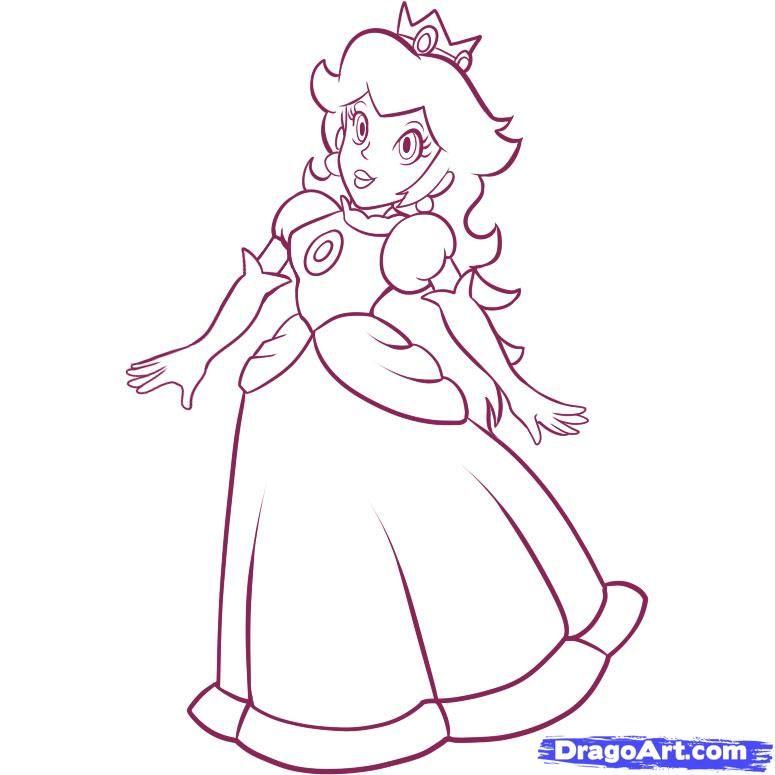 Coloriage Princesse Peach à Colorier Dessin à Imprimer Dessin