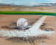 Baseball Acrylic Painting Google Search Baseball Painting Baseball Art Sports Painting