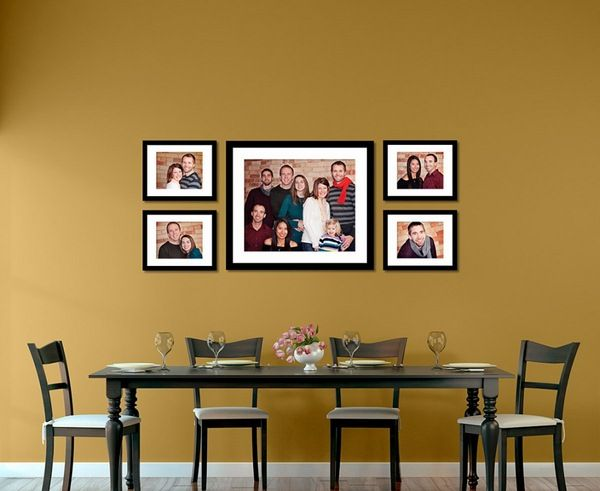 minimalist dining room designing ideas with family photo wall ...