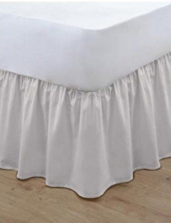 Platform Base Valance Sheet Pleated Easy Care White 100/% Poly Cotton all Sizes
