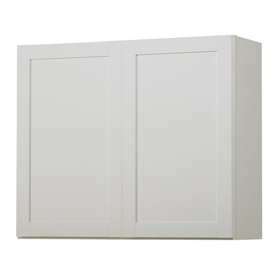 Shop Kitchen Classics Arcadia 36 In W X 30 In H X 12 In D White Door Wall Cabinet At Lowes Com Stock Cabinets Kitchen Wall Cabinets Stock Kitchen Cabinets