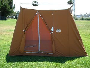 Vintage Coleman Canvas Tent Classic Springbar Model 8481b830 10 X 8 Feet Tent Canvas Tent Coleman