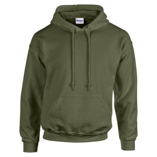 Gildan Hooded Sweatshirt Heavy Blend Plain Hoodie Pullover Hoody Military  Green M - Find Price Online