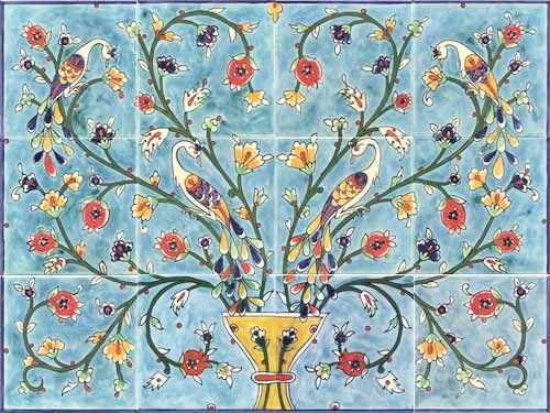 Hand Painted Ceramic Tile Murals