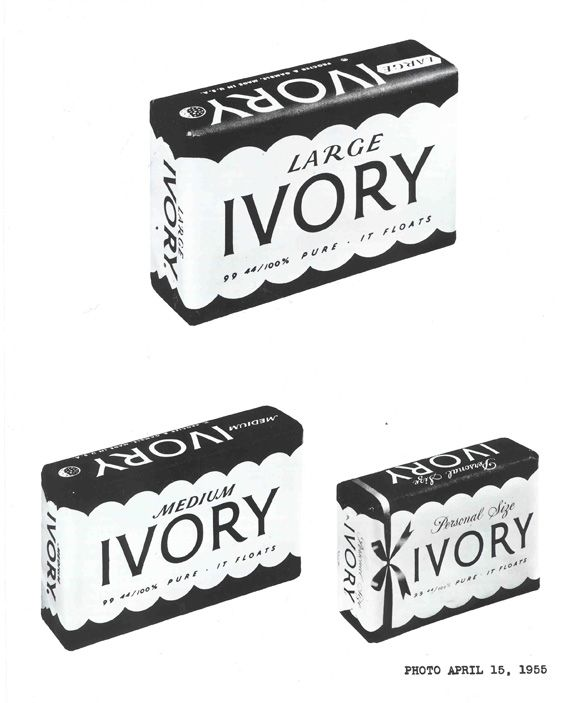 ivory soap packaging from 1955.