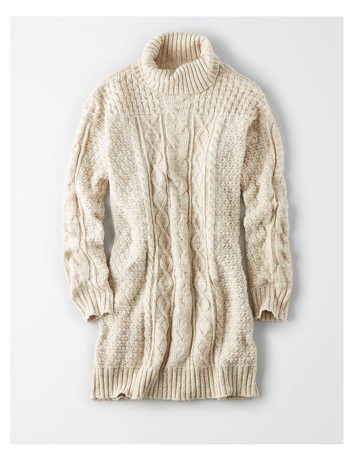 56c20ff9e4f AE Turtleneck Cable Knit Sweater Dress