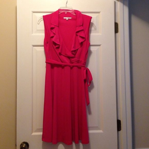 Pink Studio One Dress Pretty in Pink!  This is a beautiful pink dress that flatters all the right places.  It is missing a belt loop (as seen in third picture) but it doesn't effect the integrity of the dress. Studio One Dresses