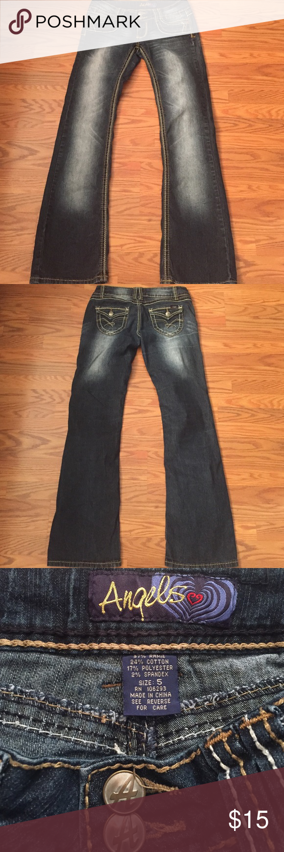 """Angels Jeans Angels bootcut jeans, inseam 30"""" Angels Jeans Boot Cut"""