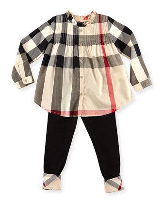 9fd8fe6b91d Check Pintuck Long-Sleeve Shirt