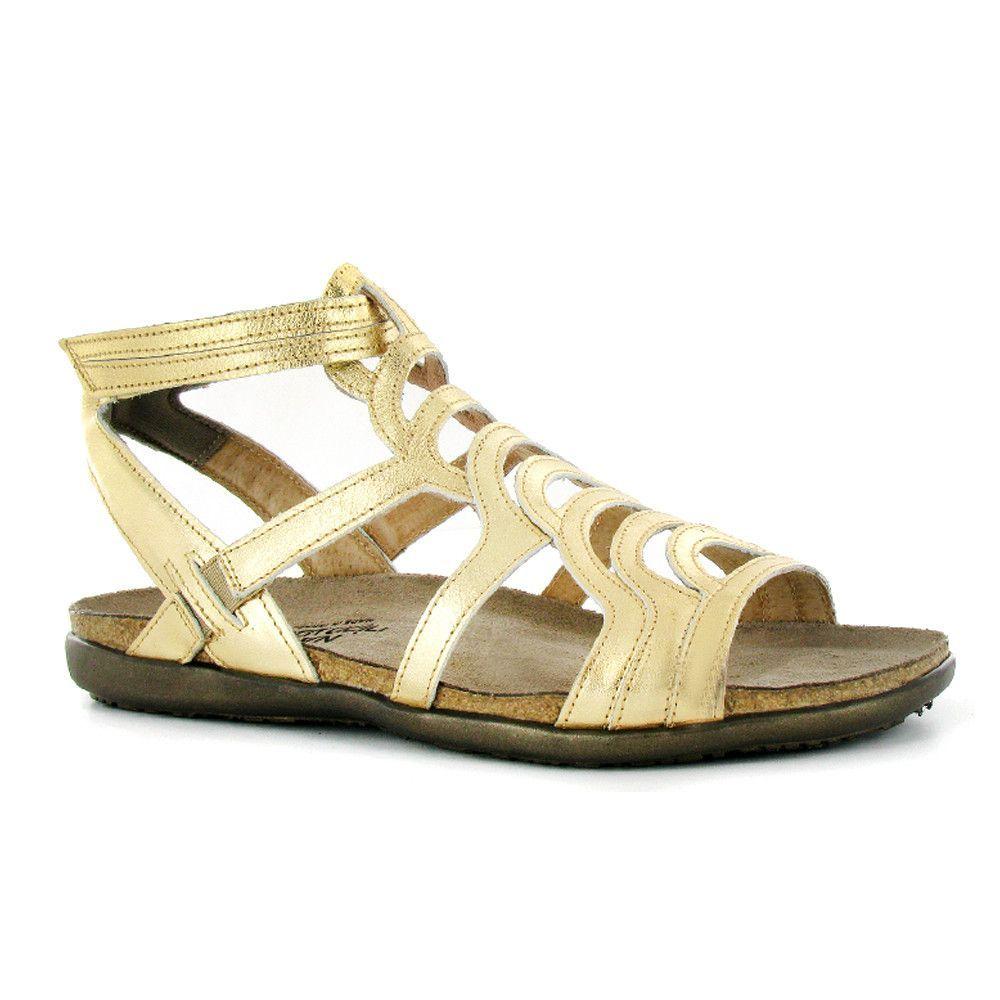 63d8270d1671 Sara metallic gold gladiator sandal. Sara metallic gold gladiator sandal  Naot Shoes