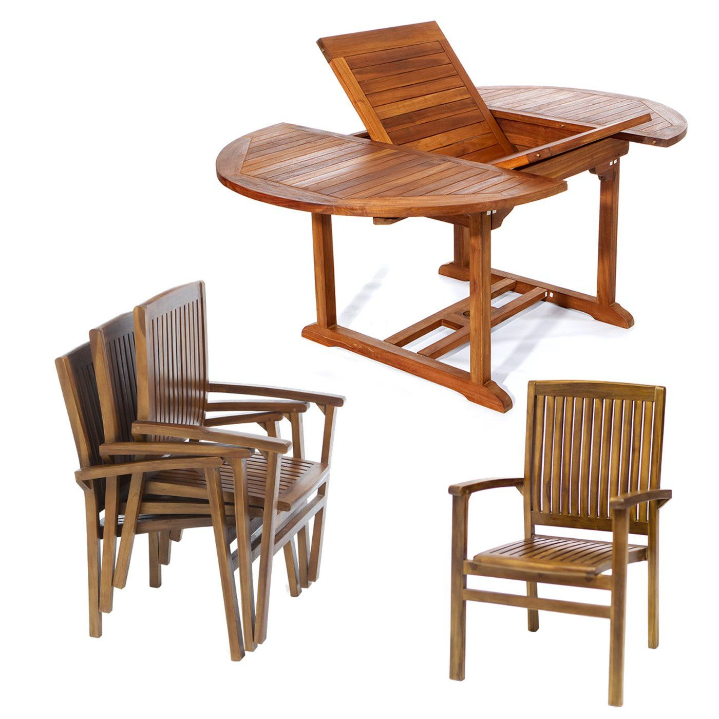 All Things Cedar Teak 5 Pc Oval Stacking Set | Products | Pinterest ...