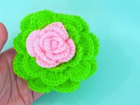 How To Crochet Flower #19