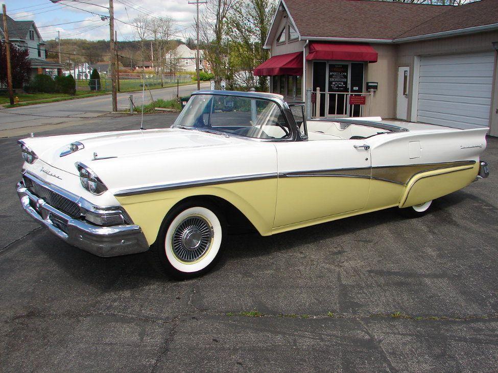 1958 Ford Skyliner Retractable Hardtop Lemon Yellow White