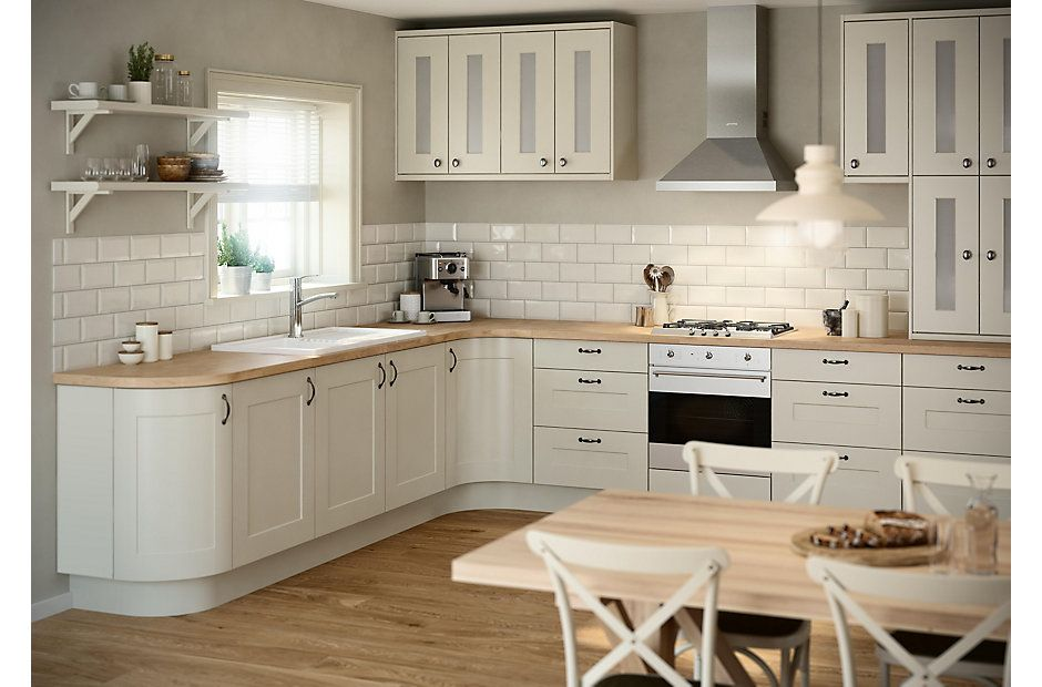 White Kitchen Worktop Ideas Part - 19: Kitchen Unit/worktop Ideas - IT Stonefield Stone Classic Style | DIY At Bu0026Q