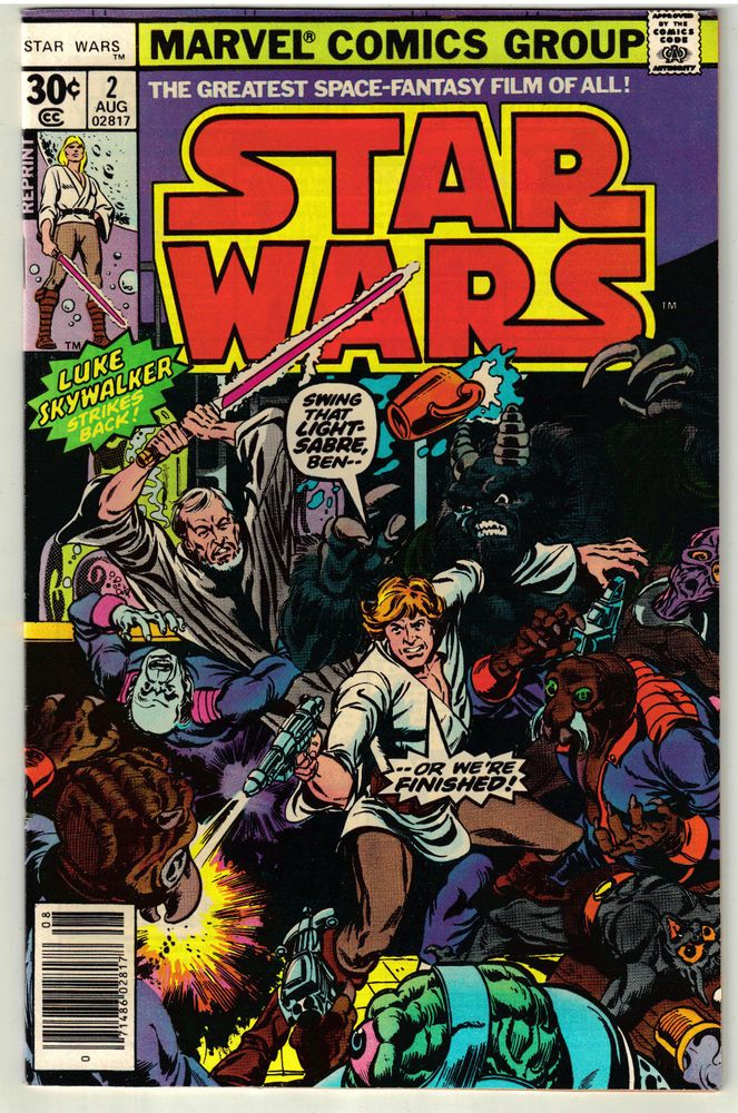 1977 Star Wars #2 Reprint Marvel Comic Book Vintage Chaykin Art ...