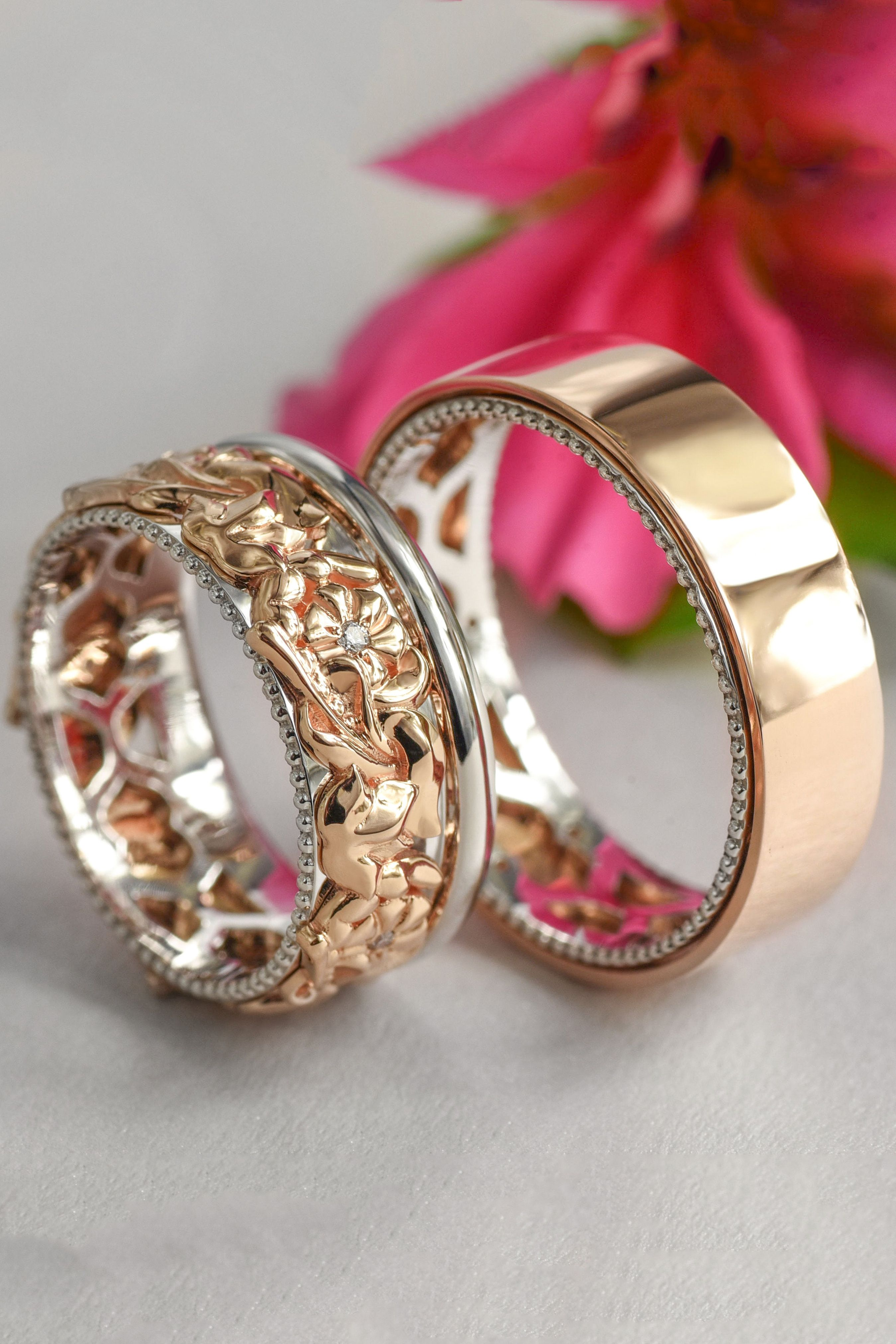 41++ Wedding band sets his and hers etsy ideas in 2021