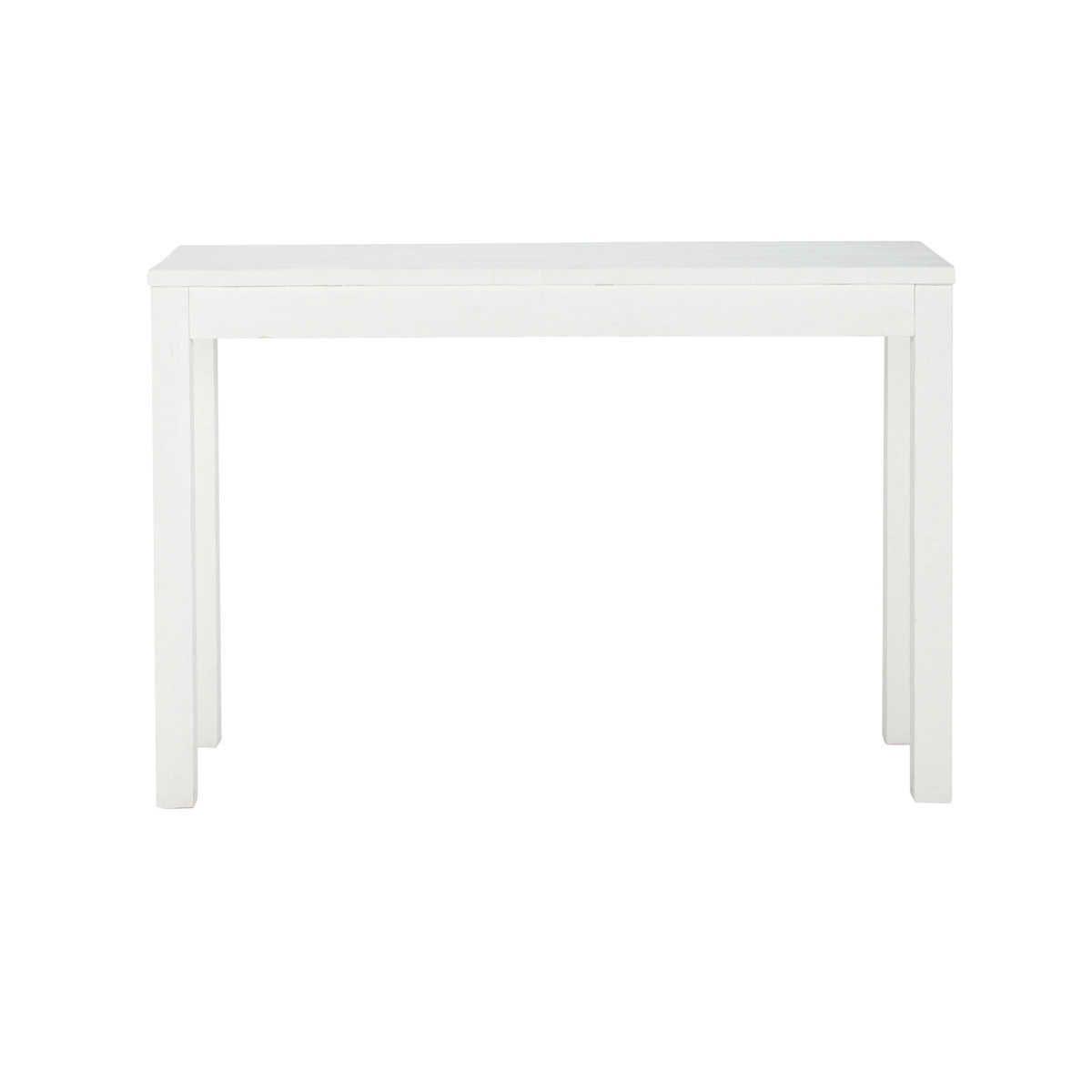 Consola de madera maciza blanca 120 cm de largo White | Recibidor ...