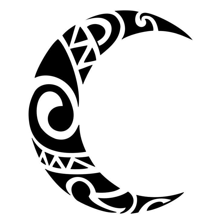 Tribal Moon Tattoo Moon Tattoos Tattoos And Piercings Tribal