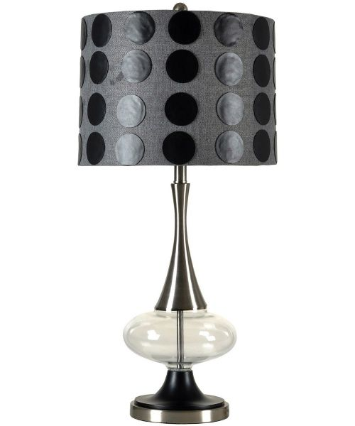 Style craft steel and glass table lamp table lamps at hayneedle