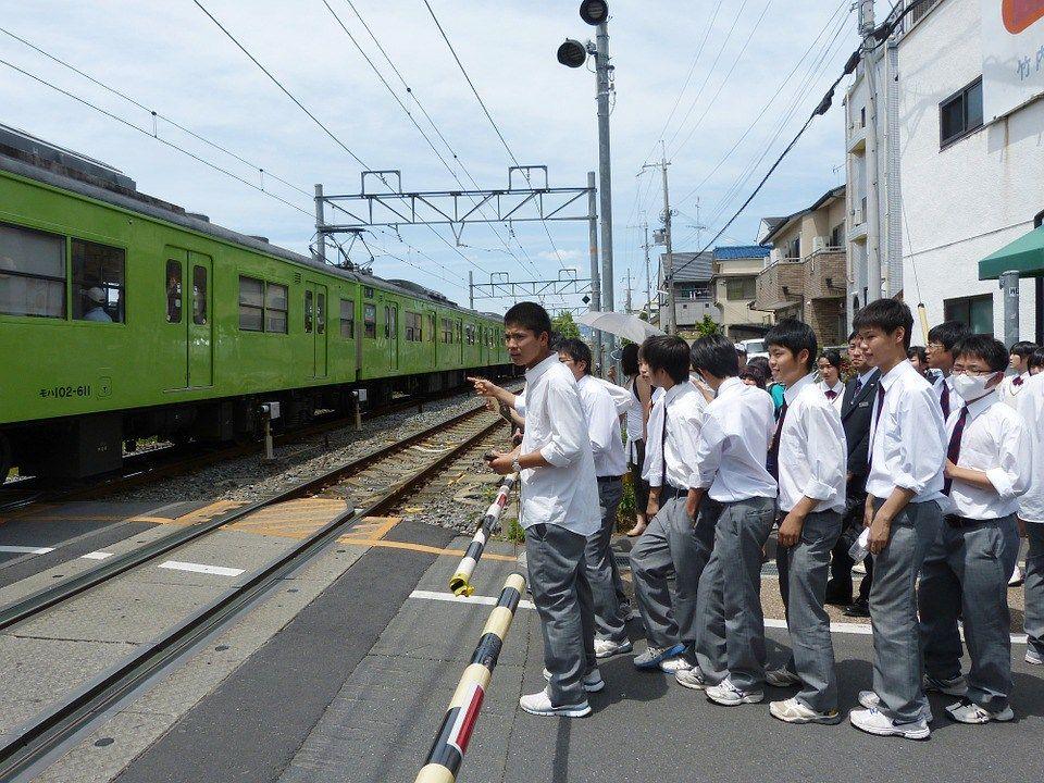 Japanese Train Crossing