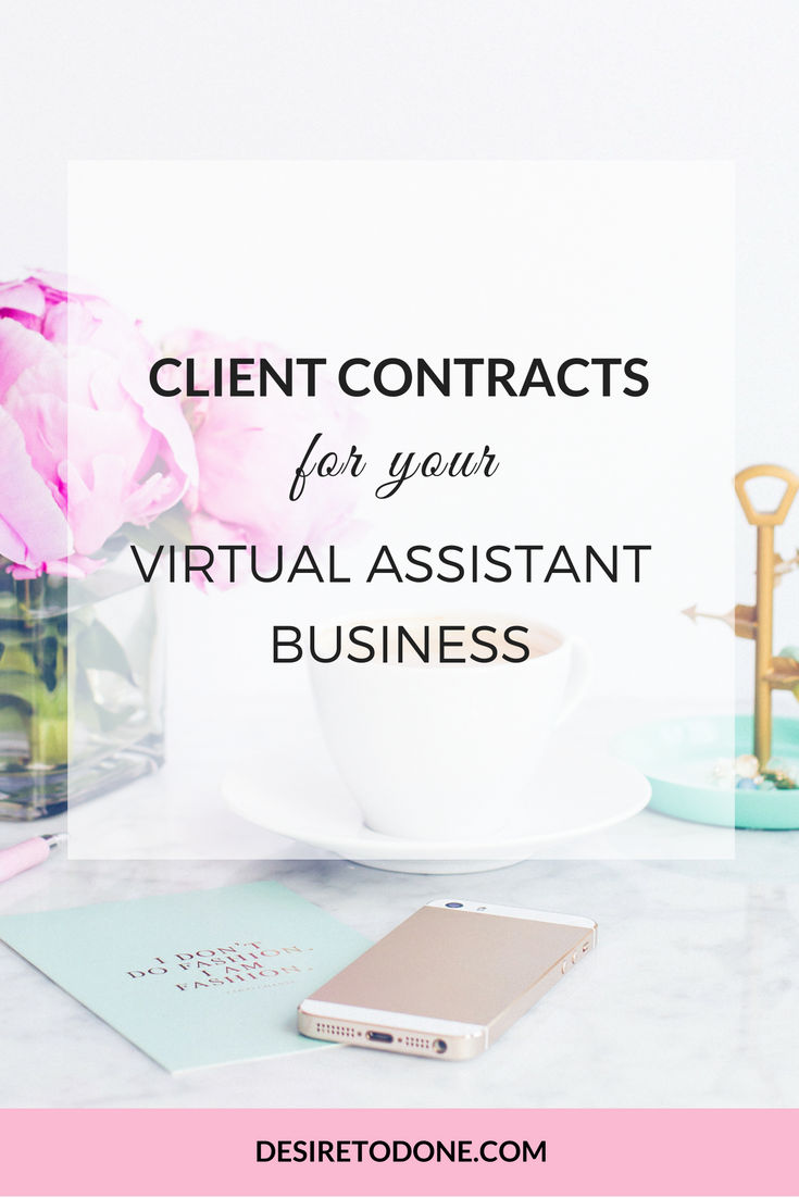 Virtual assistant contracts monetize your blog group board a 4 pack of contracts for your virtual assistant business that you can use over and over just copy and paste the contract template into a contract delivery flashek Gallery
