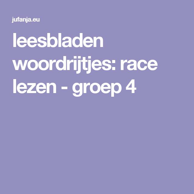 Nieuw leesbladen woordrijtjes: race lezen in 2020 | Lezen, Leren lezen IB-06