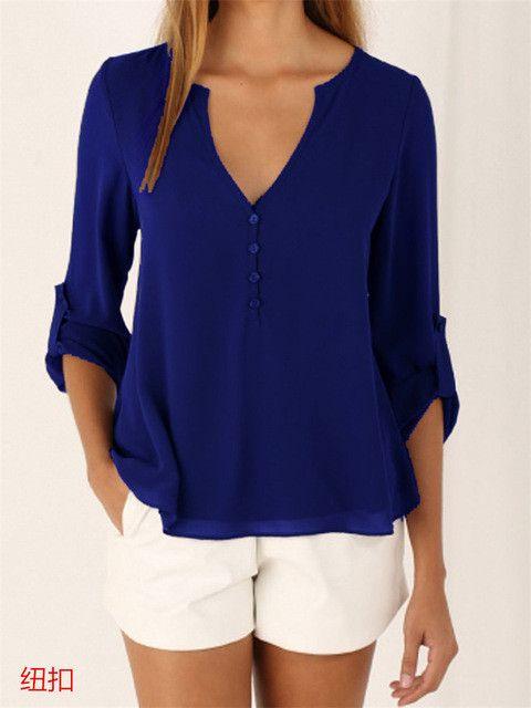 Bayanlar Icin Yazlik Sifon Gomlek Modelleri Neon Uzun Kollu Omuz Kisminda Dugme Detayli 2020 Sifon Bluzlar Uzun Kollu Moda Stilleri