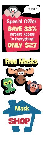 Printable Animal Masks For Kids To Make