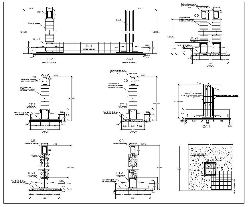 Foundation details v1 cad details download pinterest floor foundation details v1 ccuart Image collections