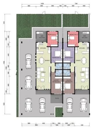 Image Result For Single Storey Terrace House Plan Terrace House Modern Minimalist House House Floor Plans