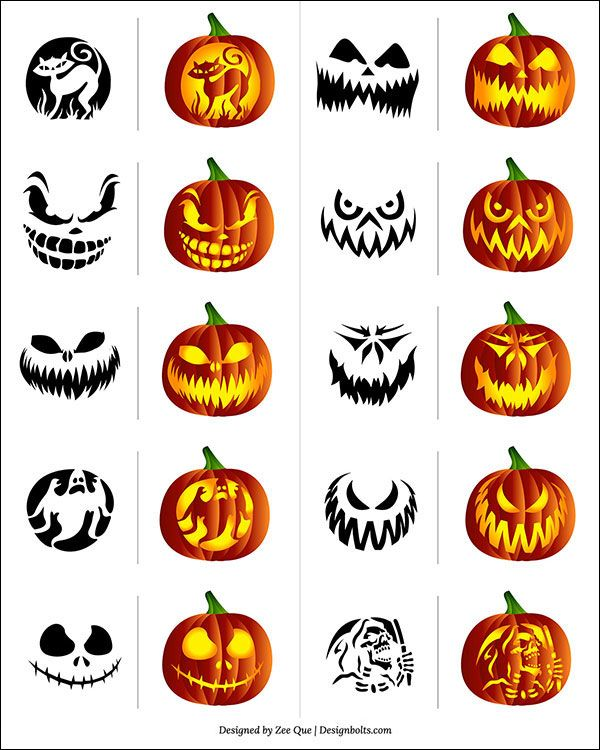 free scary pumpkin carving patterns stencils 2014 - Free Scary Halloween Pumpkin Carving Patterns