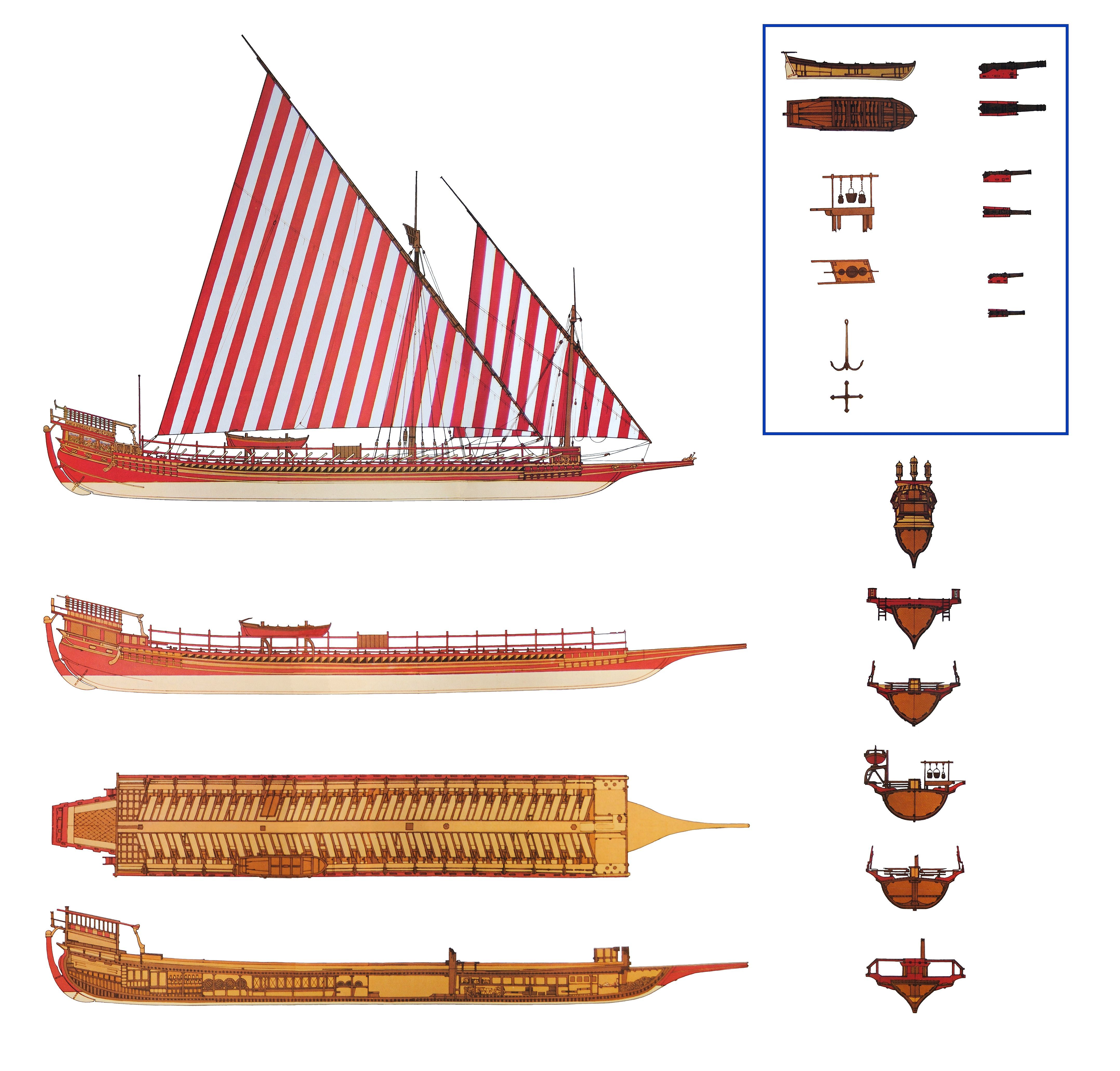 Barbary Galley Armarments And Views The Corsairs Commonly Pirate Ship Diagram Piratediary Used Galleys As Small Fast Ships In 16th Century Caribbean Pirates