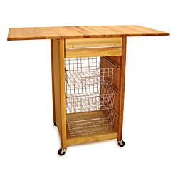 Dropleaf Basket Cart Boasts Matchless Quality In A Supremely Inspiration Kitchen Cart With Drop Leaf Design Decoration