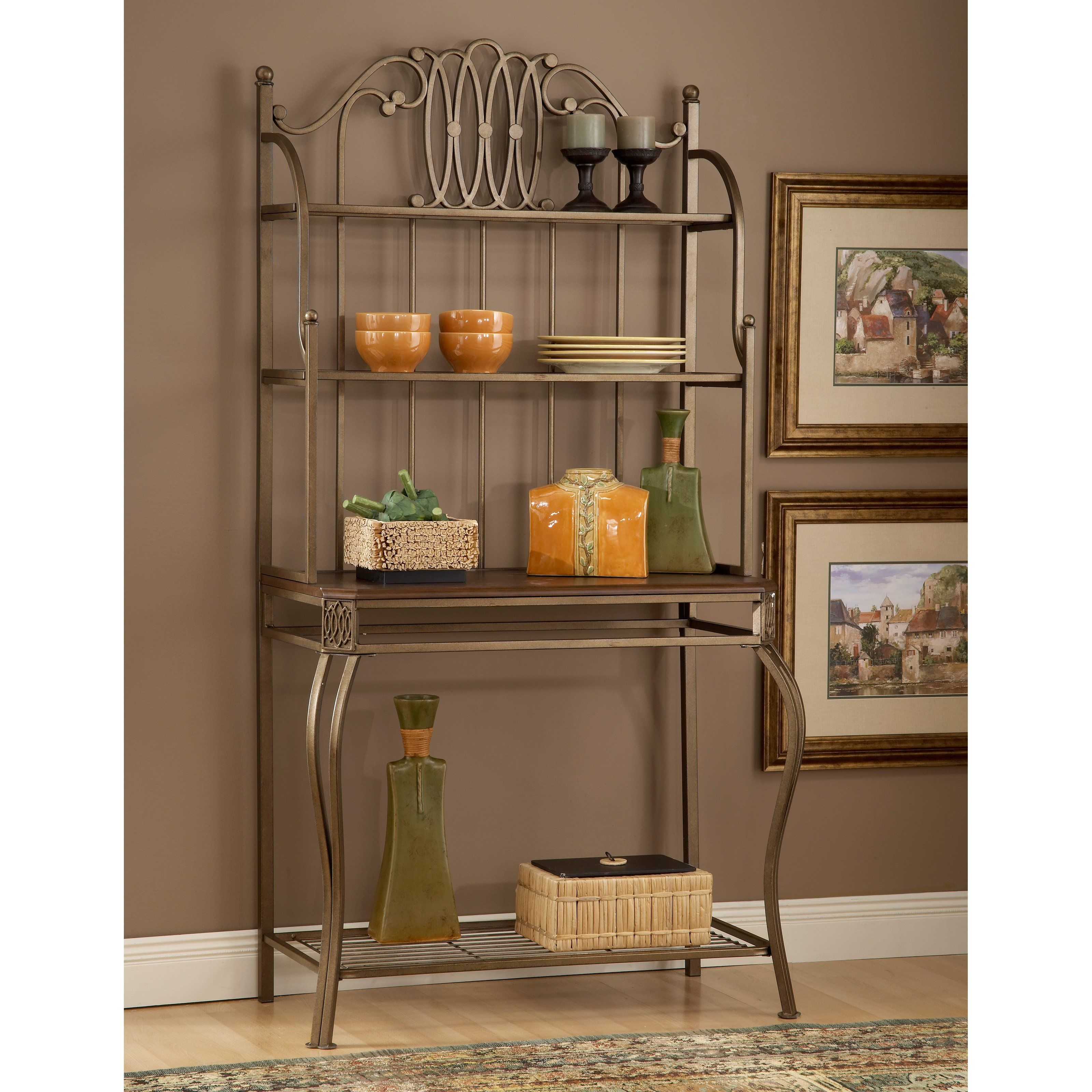 shipping the today rack belize free bakers racks and iron home upton curated overstock product nomad wicker garden